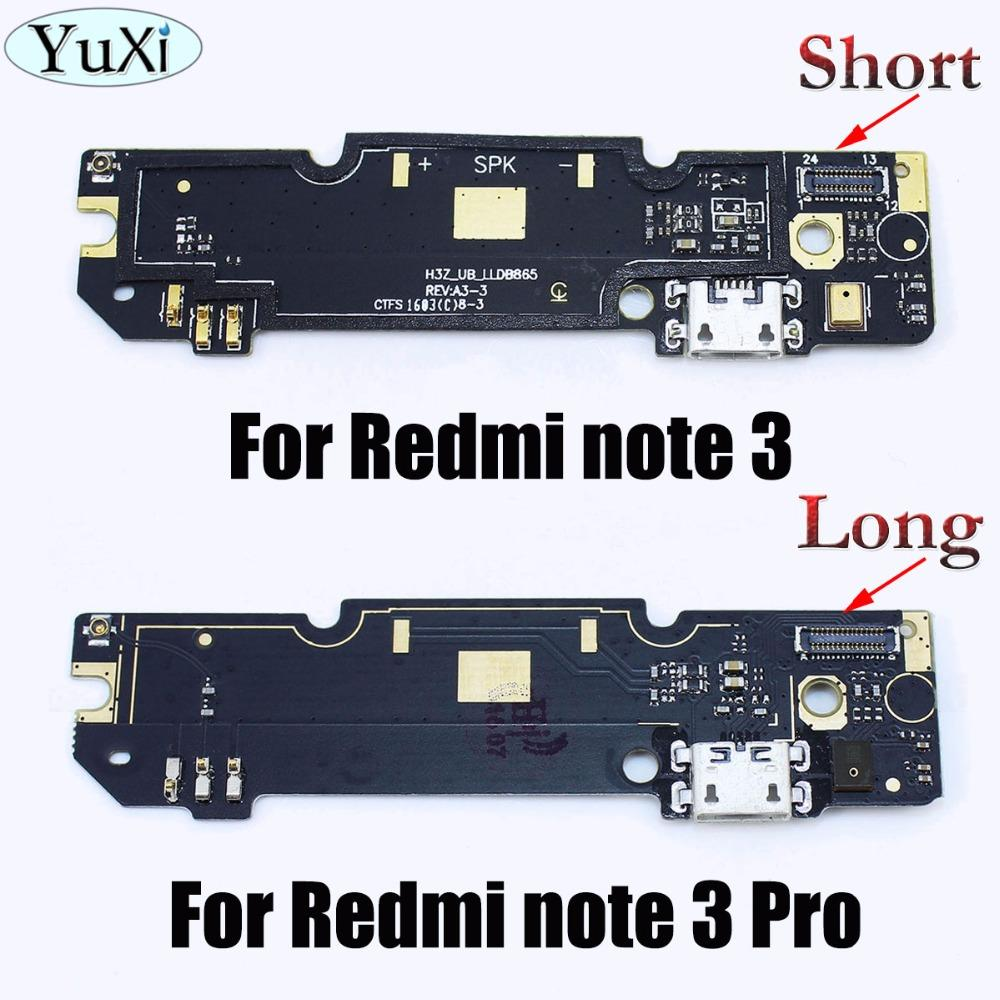 YuXi Micro Dock Connector Board USB Charging Port Flex Cable For Xiaomi For Redmi Note 3 /For Redmi Note 3 Pro Replacement