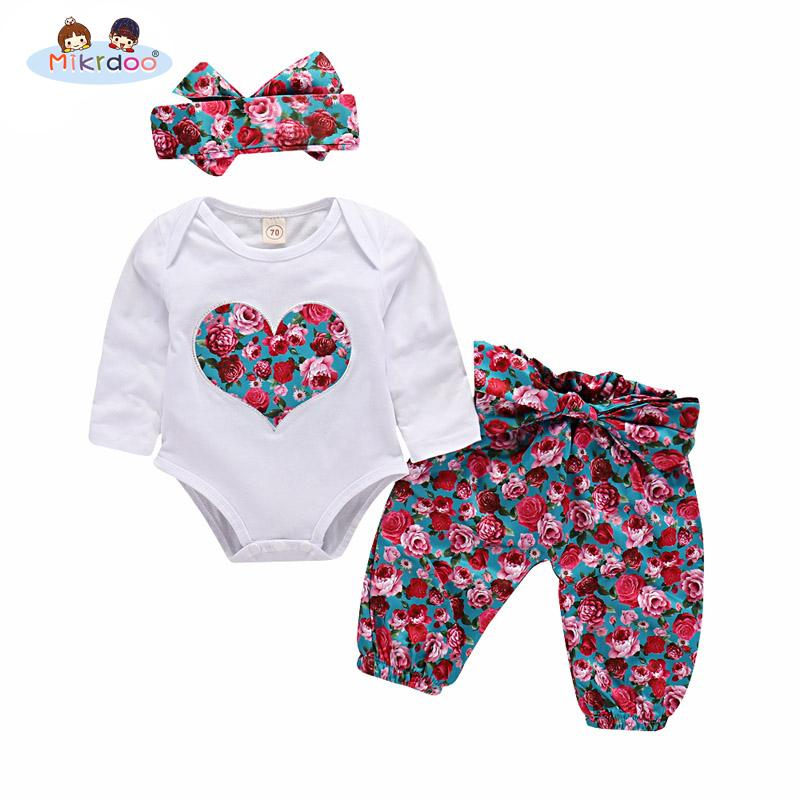 2019 Baby Girls Clothing Sets 2018 Cute Tops Playsuit Pants Headband ... f27e616db013