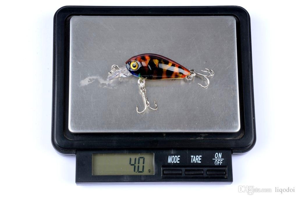 크랭크 낚시 미끼 경질 배스 미끼 4.5cm-4g Pesca Wobbler 인공 크랭크 베이트 6 색 낚시 태클