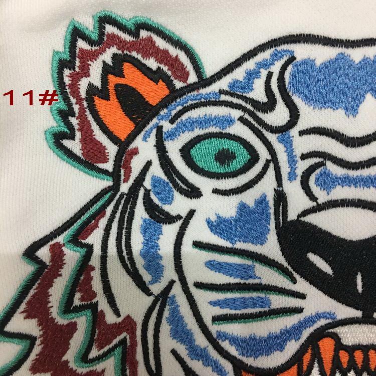 Heiße europäische Marke Tiger Head Pullover Paris bestickt Hoodies Pollver reiner Baumwolle Terry Langarm-Sweatshirts mit Buchstaben Original