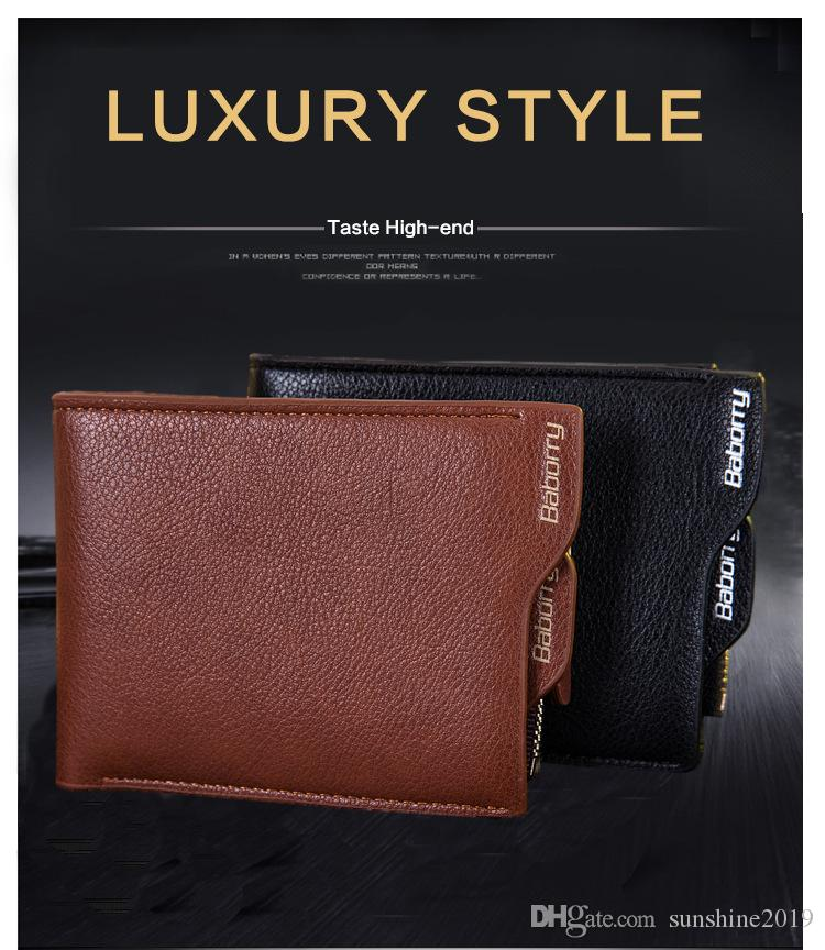f31d67fc8efd 2018 New Design wallet Vintage Men Leather Brand Luxury Wallet Short Slim  Male Purses Money Clip Credit Card Dollar Price