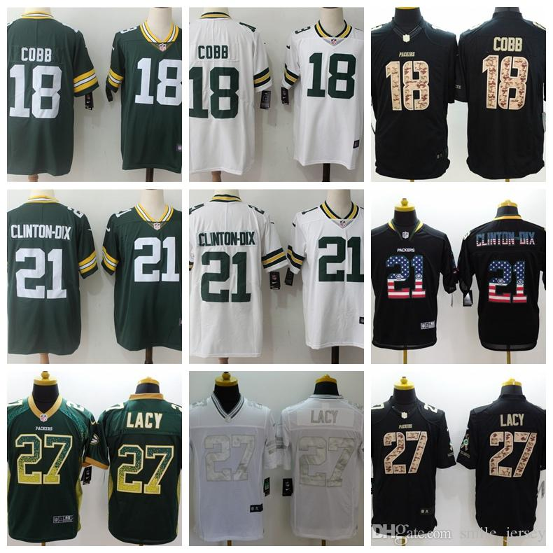 2018 Mens 18 Randall Cobb Green Bay Jersey Packers Football Jersey Stitched  21 Clinton Dix Hundley 27 Eddie Lacy Color Rush Football Shirt From  Custom space ... e89a2a69b