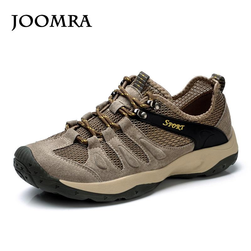 55dc00561af6 2019 Joomra Outdoor Sports Hiking Shoes For Men Mesh Mountaineering Hunting  Trekking Camping Shoes Summer Breathable Upstream From Kimgee