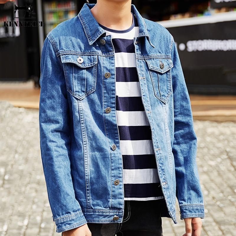 KENNTRICE Chaquetas Hombre Denim Jeans Abrigo Hombre Azul oscuro Hiphop 5xl 6xl 7xl 8xl Chaqueta de invierno militar para hombre Talla grande Hombres básicos