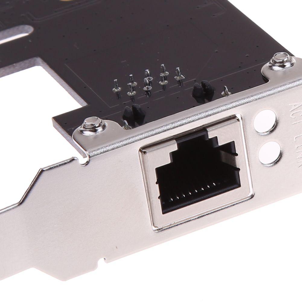 ALLOYSEED PCIe 기가비트 이더넷 PCI-Express PCI-E 네트워크 카드 어댑터 서버 데스크탑 용 Win10 / Win8.1 용 RJ45 네트워크 카드