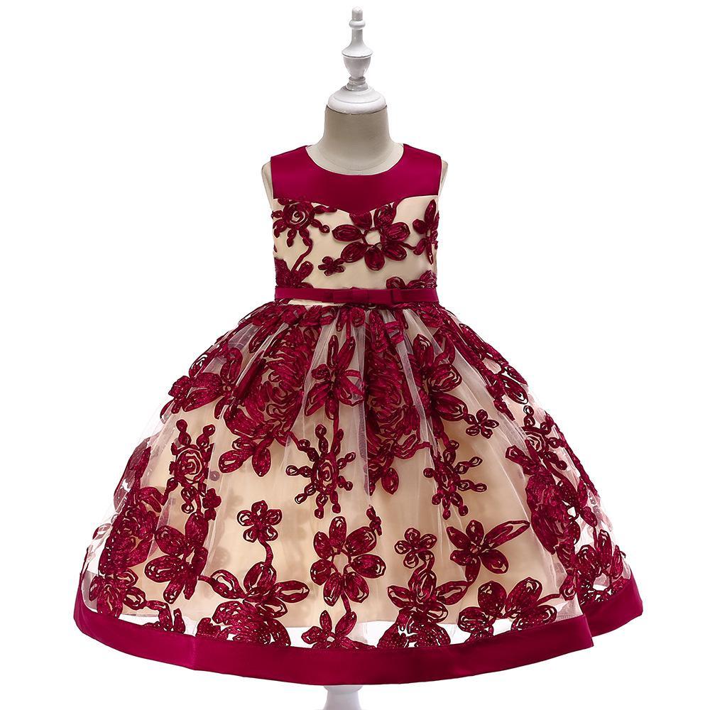 8983ace7971f Hot Sale Baby Girl Flower Sequins Dress Party Princess Dress ...