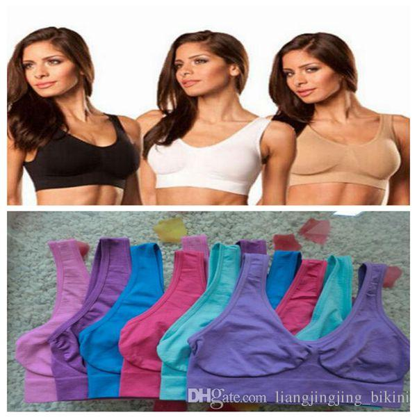 9 Colors Top Quality Seamless Sports Bras Push Up Bra Ahh Bra Shaperwear Bras Seamless Sports Bras Yoga Bra CCA8528 3000pcs