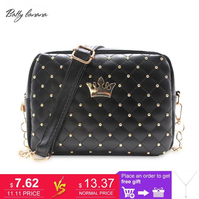 2019 Fashion Fashion Crossbody Bags For Women Rivet Chain Shoulder Bag  Female Women Messenger Bag Small Crossbody Bags High Quality Handbag  Leather Purses ... b3125f24abcaa