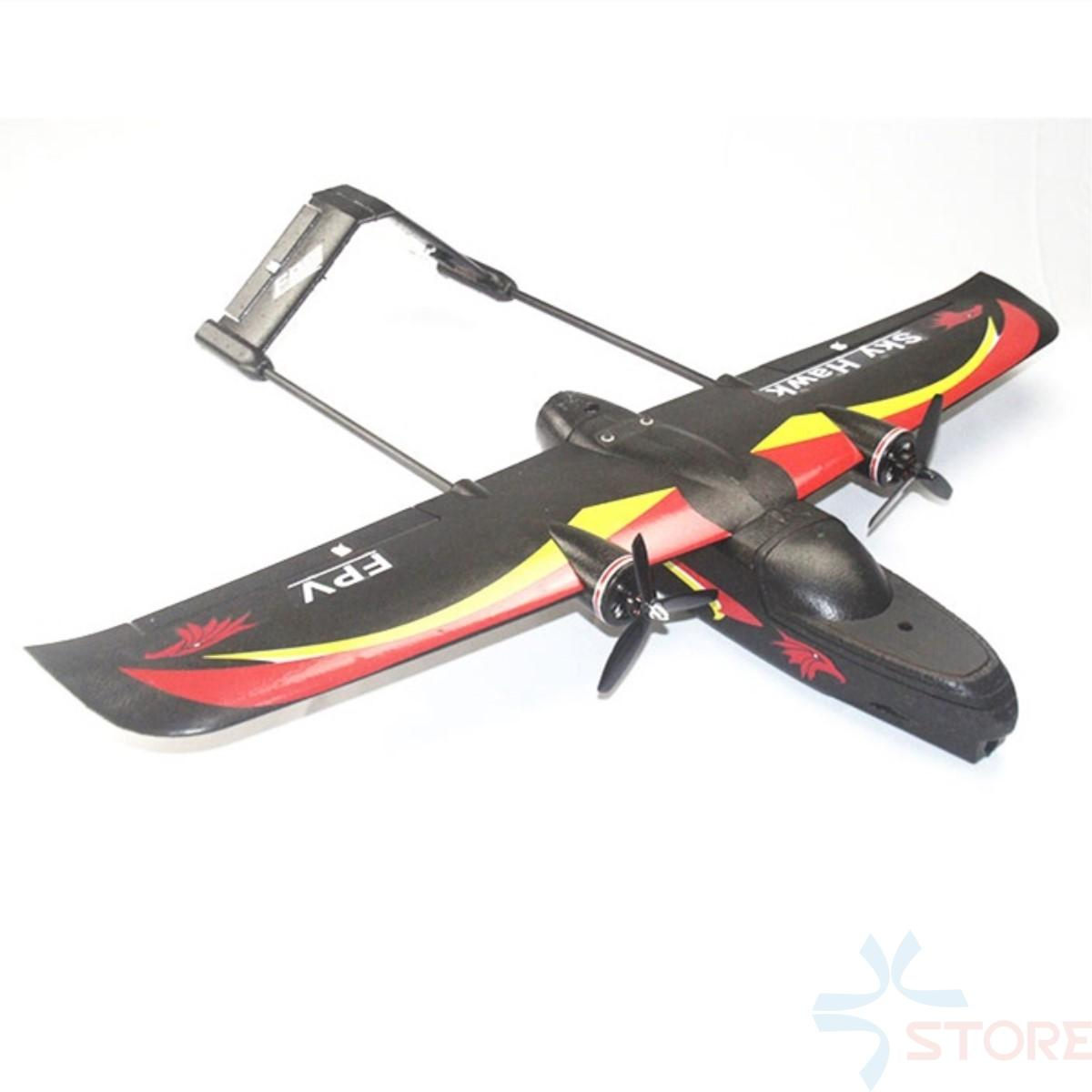 SKY HAWK V2 940mm Wingspan EPP Double Motor Device FPV RC Airplane Kit/PNP  Black Electric RC Glider