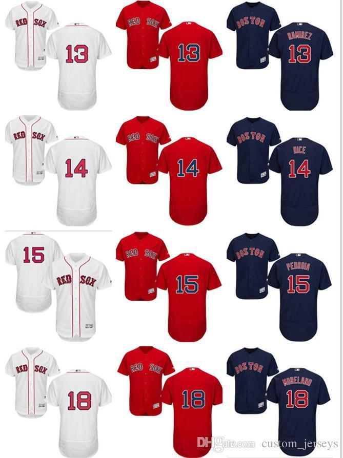 2019 Custom Men S Women Youth Majestic Red Sox Jersey  13 Hanley Ramirez 14  Jim Rice 15 Dustin Pedroia 18 Mitch Moreland Baseball Jerseys From  Famous jersey ... f3e7d48dcf3