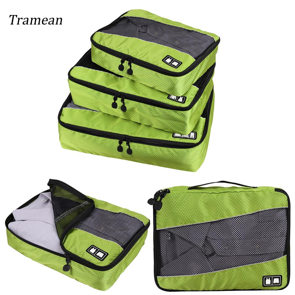 64f3b462378b Travel Luggage Organizer 3Pieces Packing Cubes Set Breathable Mesh Travel  Bag Waterproof Packing Organizer Carry on Suitcase z30