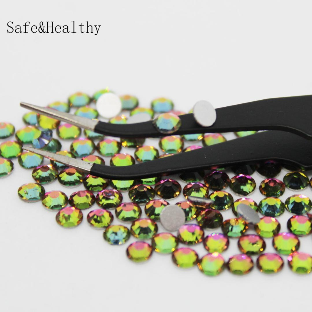 Rainbow SS6 SS8 Rhinestones Back Flat Round Nail Art Decorations And Stones  Non Hotfix Rhinestones Crystals For DIY Glass Nail Supply Store Nail Foil  From ... 92c5eabc8037