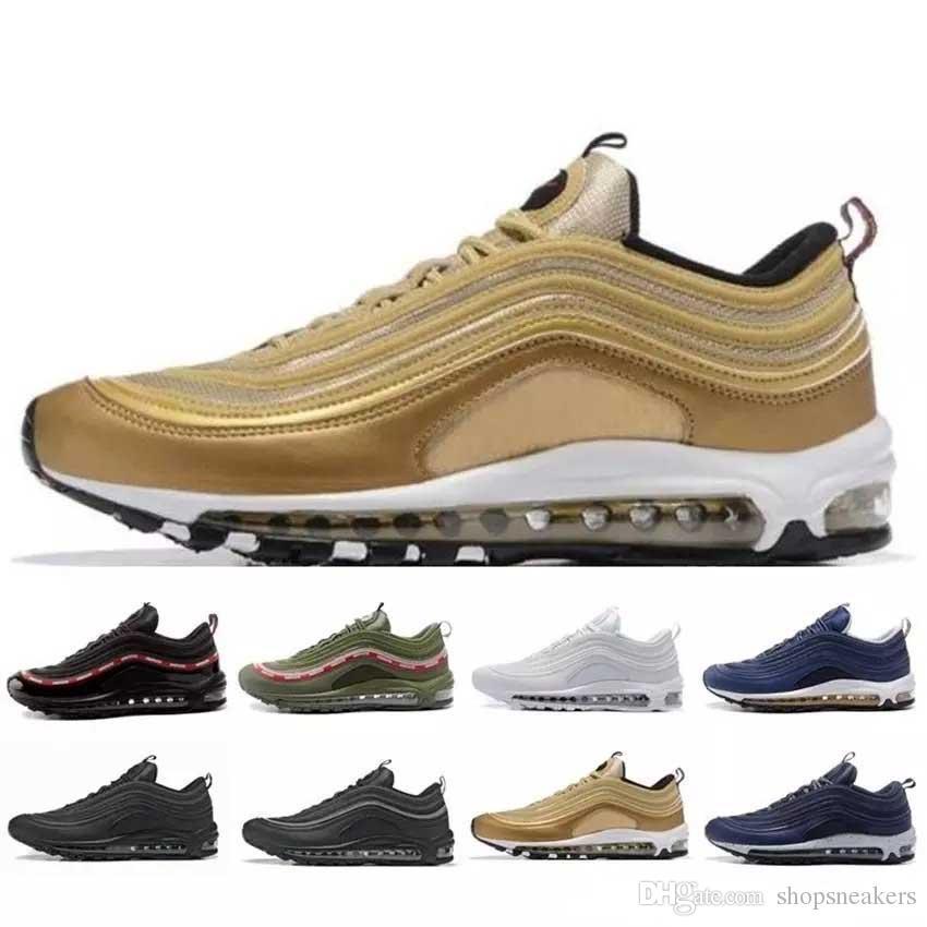 finest selection 82e15 89c32 Großhandel mit Box Schuhe 97 Og Tripel Weiß Schwarz Metallic Gold ...