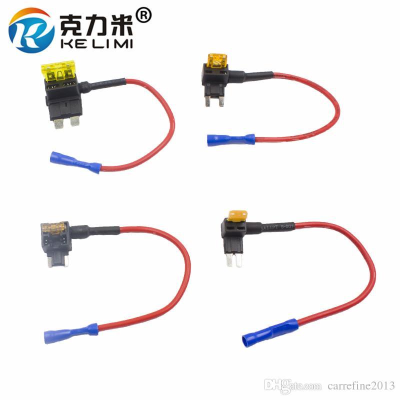 wholesale add a circuit standard mini low profile mini micro fuse boxes holder piggy back fuses tap dual circuit adapter holder Auto Micro Fuse Kit
