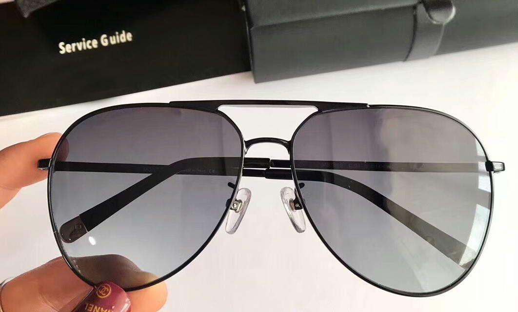 Compre Mujeres 788s Aviator Gafas De Sol Negro Marco Gris Gradiente ...