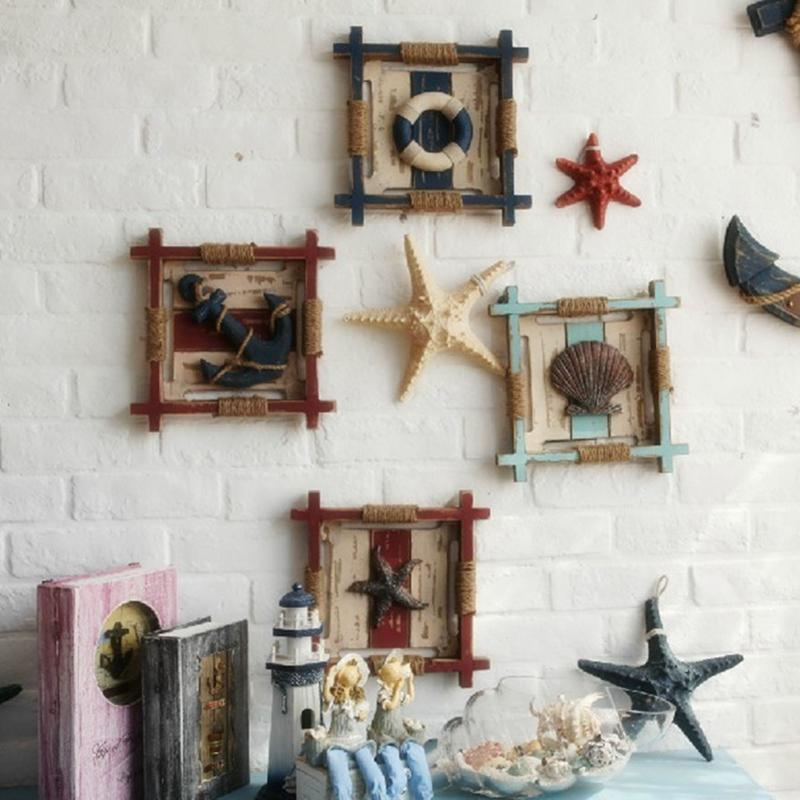2019 Solid Wood Vintage Home Decor Crafts Mediterranean Style Wooden Wall Decoration Plaque Unique Multicolor Frame From Livegold