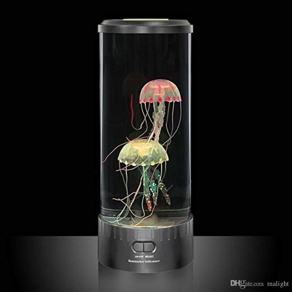 Acheter Grand Reservoir De Lampe Meduse Aquarium Table Lumiere 5