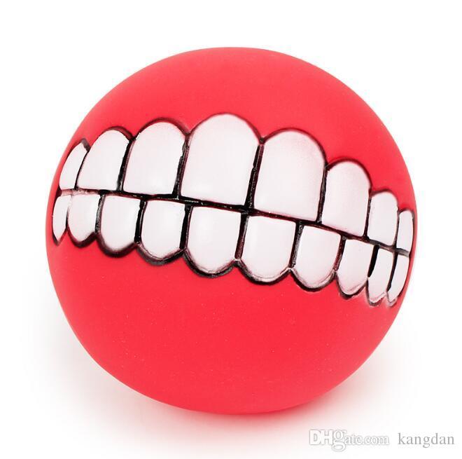 Pet Chiot Chien Drôle Dents Ball Mâcher Son Chiens Jouer jouet Animaux Chien Chien Balle Dents Silicone Son Jouet