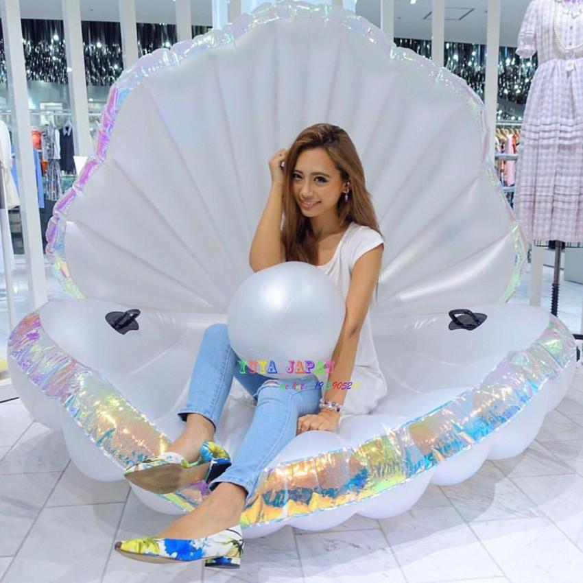 2018 Giant Pearl Scallops Inflatable Pool Float Shell Mattress Lounger With  Handle And Pearl Ball Water Sofa Party Toys Swimming Ring From Xuelianguo,  ...