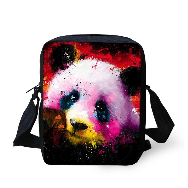 df5669f2ed WHOSEPET Brand Messenger Bags 3D Panda Printing Flap Shoulder Bag ...
