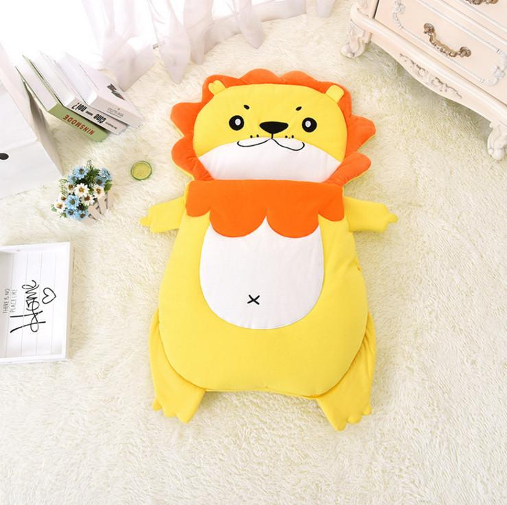 PROSEA Boys Girls Infant Swaddling Newborn Baby Cartoon Lion Sleeping Bags Kids Warm Sleepsacks Quilt Spring Autumn Winter