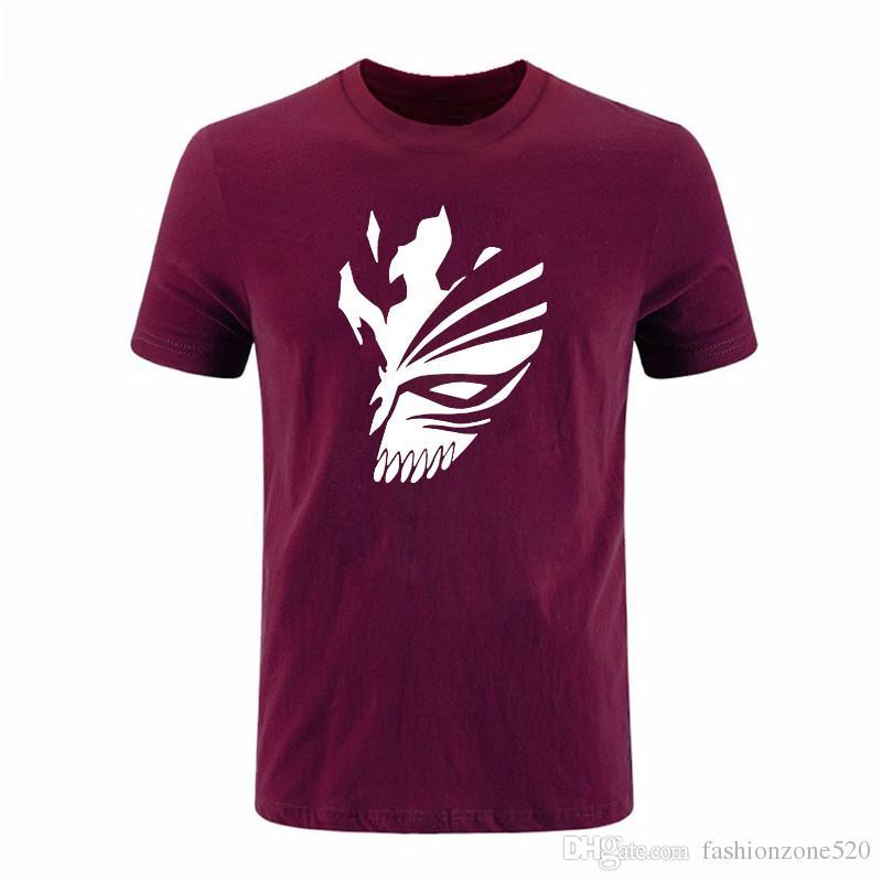 été BLEACH Kurosaki Ichigo hip hop Imprimé Hommes Casual streetwear drake T-shirt Coton Manches Courtes Hommes DIY-0309D