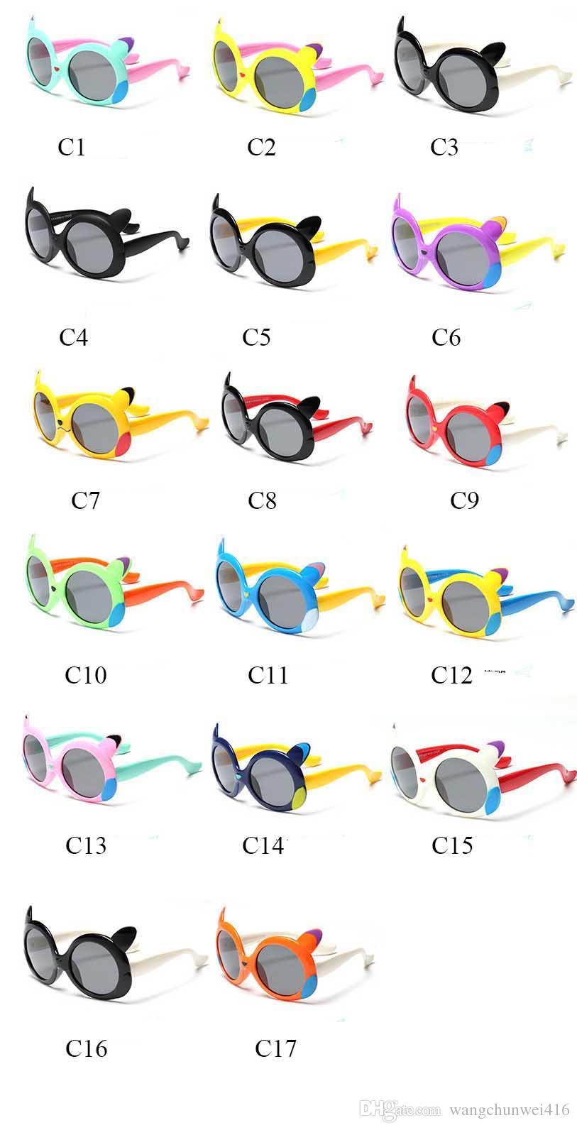 Fashion Kids Sunglasses Polarized Baby Boy Girls Sun Glasses Child Sunglass new cool Infant Oculos Shades UV400 2018 Brand Design