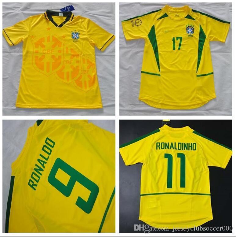 2019 Soccer Jerseys 1993 1994 1998 2002 Brazil Home Jerseys Rivaldo 93 94 Brasil  Retro Classic Shirts Carlos Romario Ronaldo Ronaldinho Jersey From ... fa65cc382