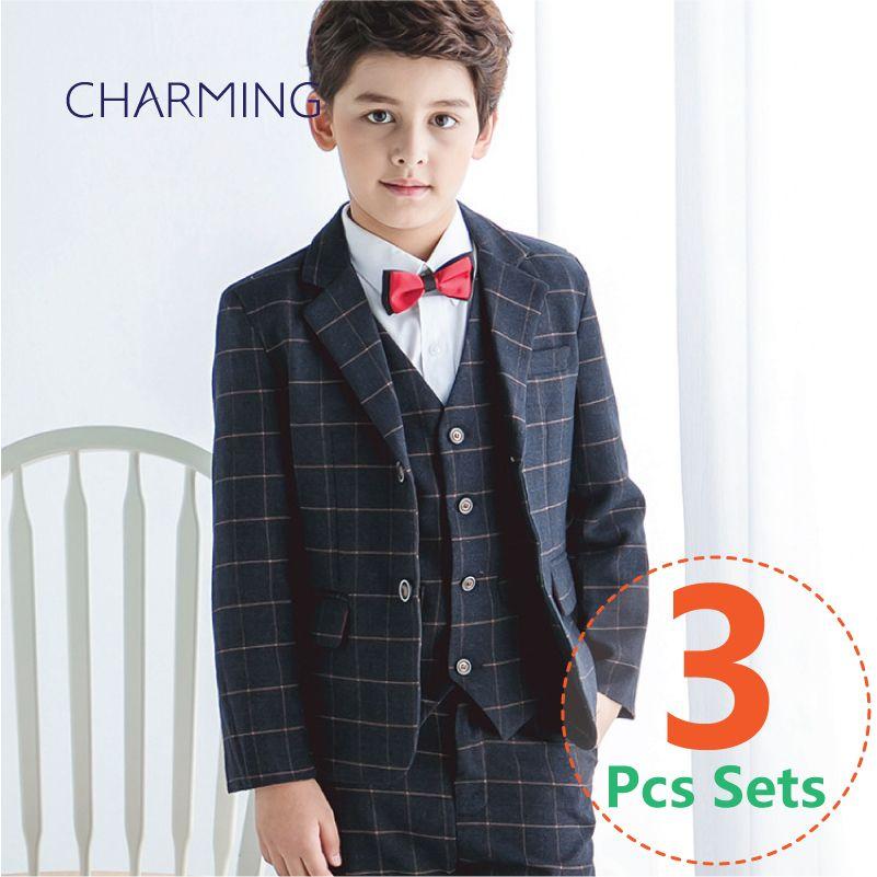 7d31f3990 Boy Flower Girl Dress Formal Blazer Children Wedding Party Suit ...