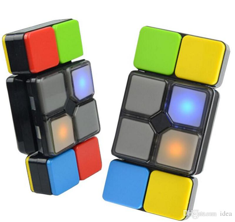 magic cube flipslide puzzle toy with light music for kid newest fold slide cube brain teasers 4 mode 2018 hot office stress buster toys good stress