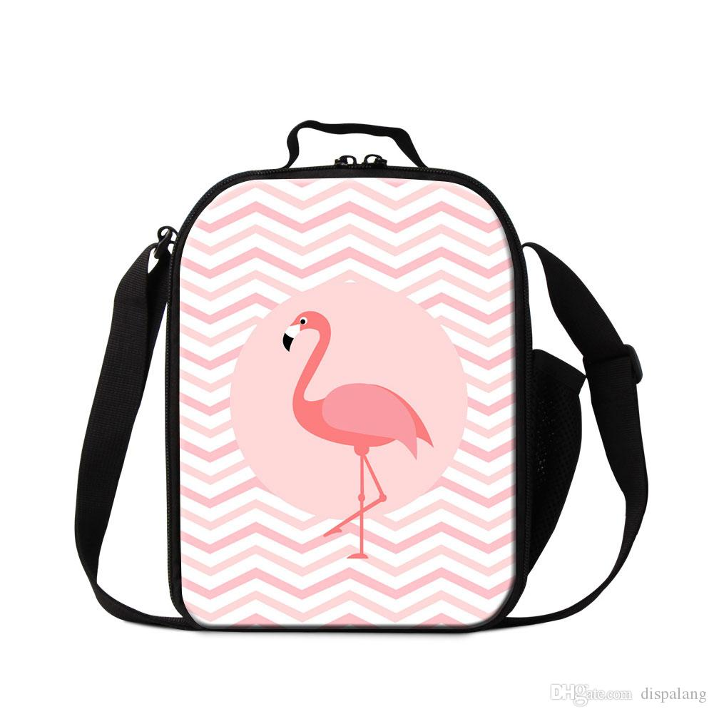 Customize Design Animal Flamingo Printed Lunch Bags For Student ... 84b6a4949e