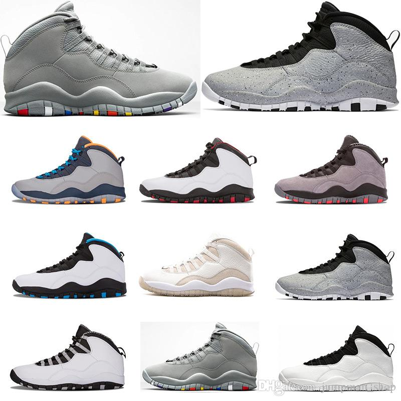 Cheap Basketball Shoes 10 Cement 10s Mens Shoes Bobcats Grey Red