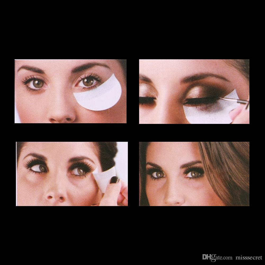 Göz Makyaj Araçları Kadar Tek Göz Farı Pedler Göz Jeli Makyaj Shield Tampon Koruyucu Sticker Kirpik Uzantıları Yama