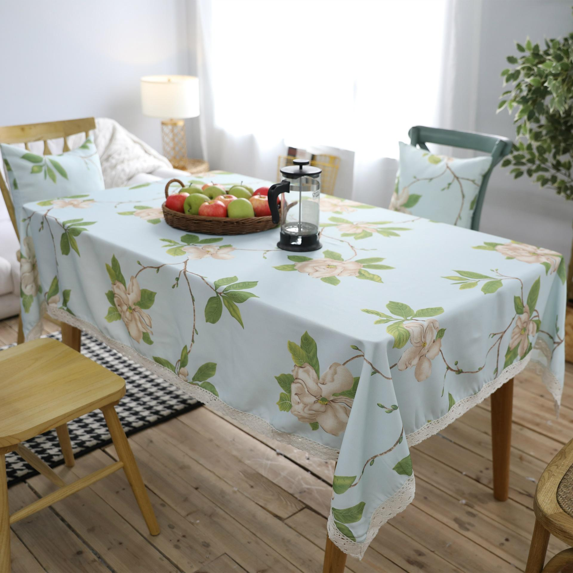 Ordinaire Helloyoung Floral Pattern Decorative Lace Table Cloth Polyester Tablecloth  Dining Table Cover For Kitchen Home Decor U1258 Plastic Tablecloths Lace ...