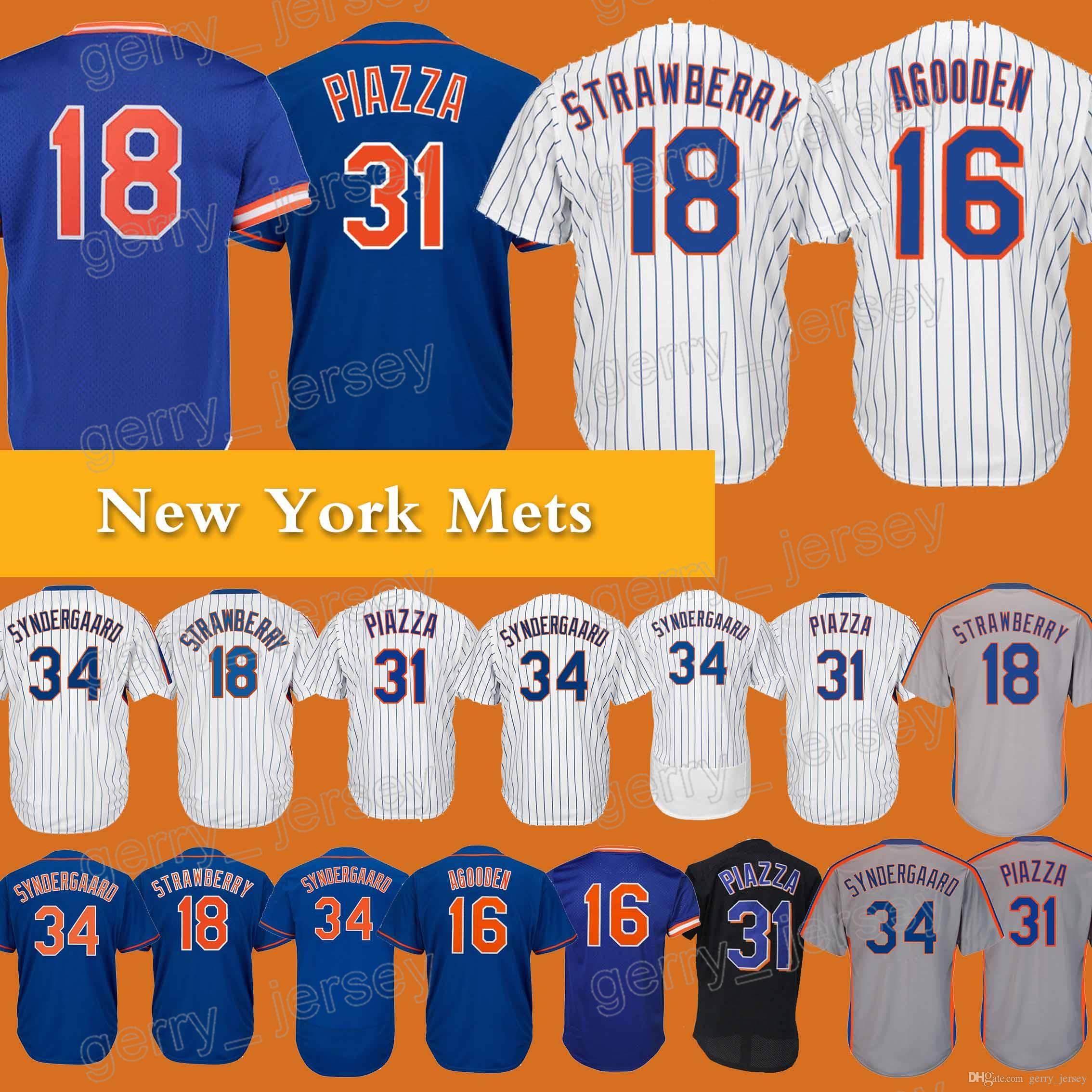 0bc0874da4e ... promo code for new york mets jersey 18 darryl strawberry 16 dwight  gooden 34 noah 31