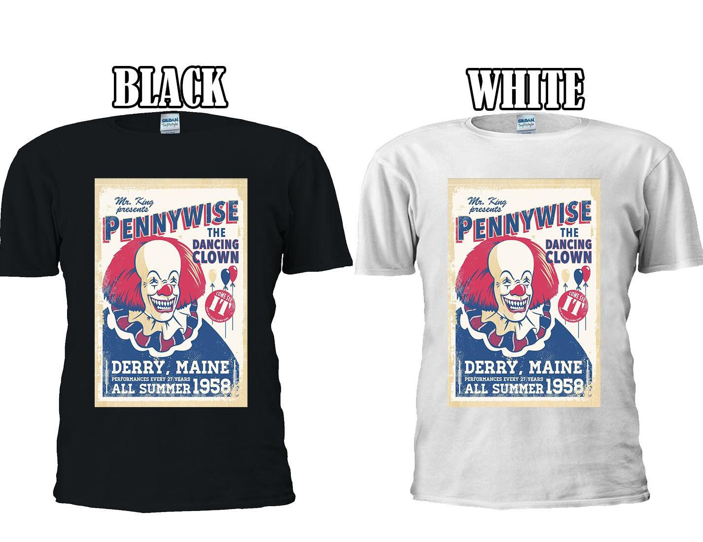 0a951f1d5 Pennywise The Clown Stephen King T Shirt Baseball Vest Men Women Unisex  2628 Awesome Shirts Cool T Shirts For Men From Funnytees, $15.72| DHgate.Com
