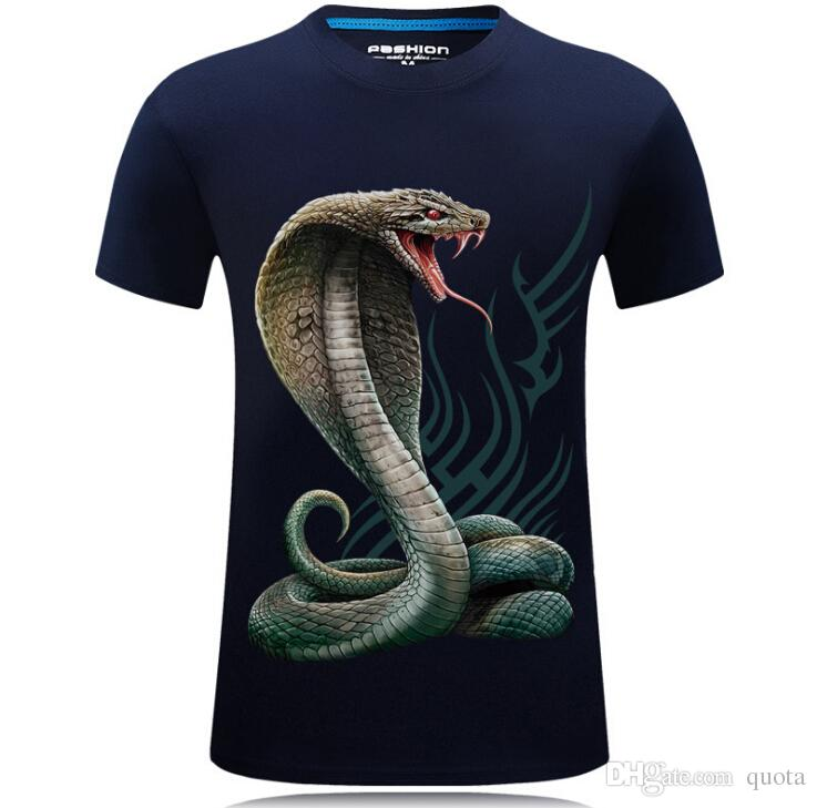 4c9dbb14325a 3D Print Snake T Shirts Tide Design New Fashion Pattern Tops For Men ...