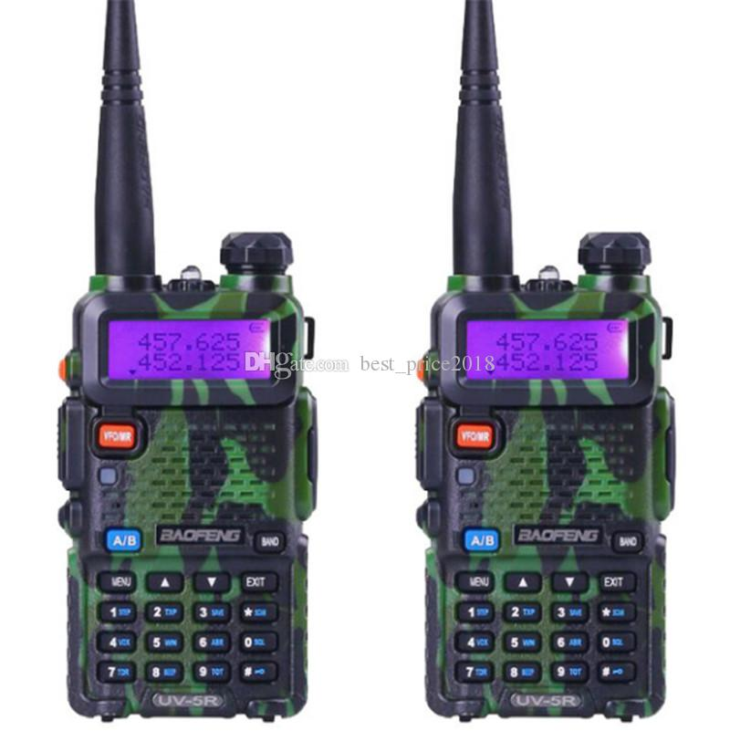 Gratuit DHL baofeng UV-5R double bande talkie-walkie radio émetteur-récepteur double affichage radio communicateur UV5R portable talkie walkie ensemble