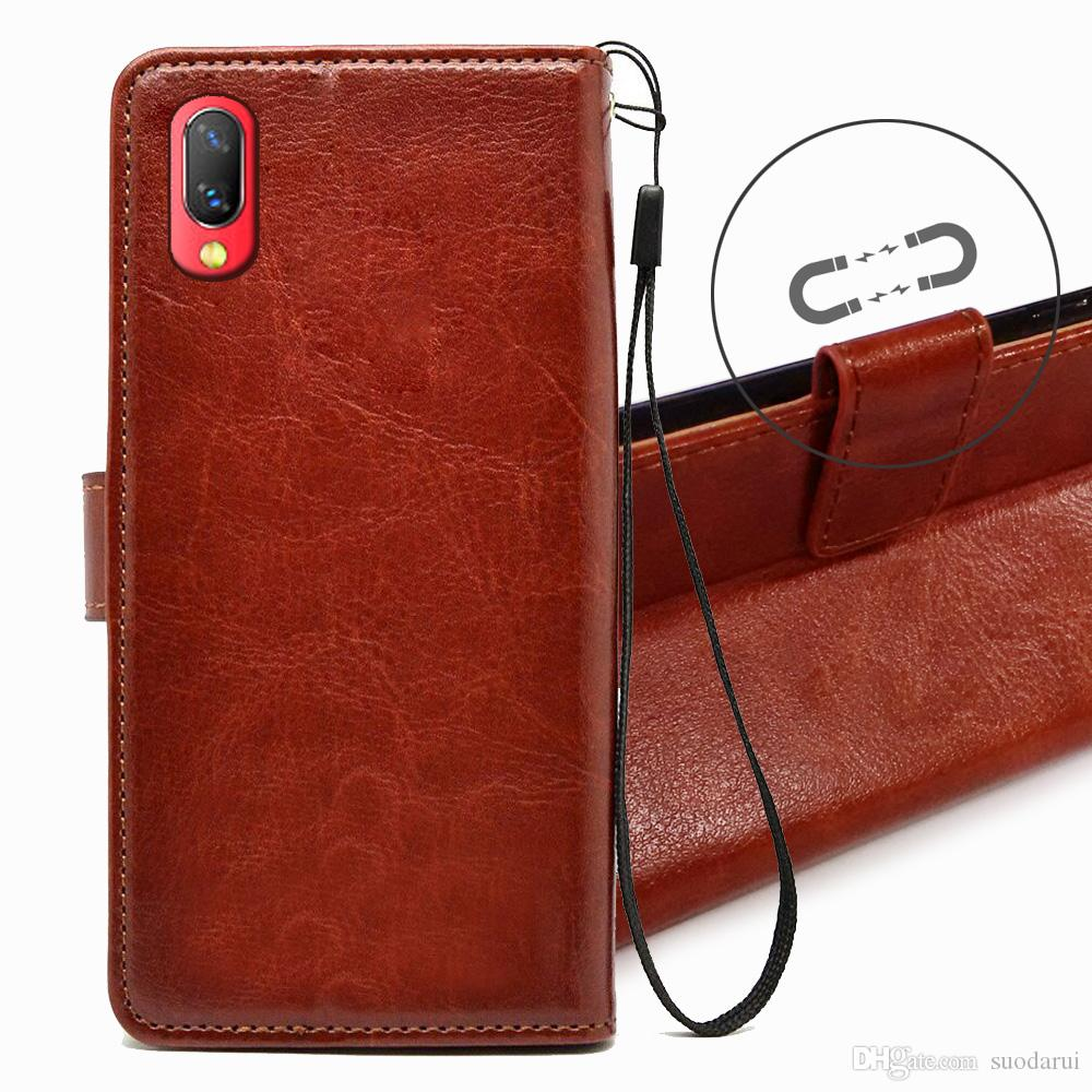hot sale online fbf85 7aa2e Hot Sell Flip leather Case for Vivo NEX S TPU PU Leather Magnetic Book  Wallet Cover Pouch With Lanyard