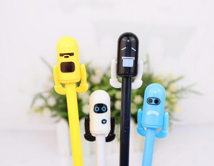 Wholesale gel pen free shipping120pcs\lot Korean new student gift Robot home neutral pen Small man's styling pen316