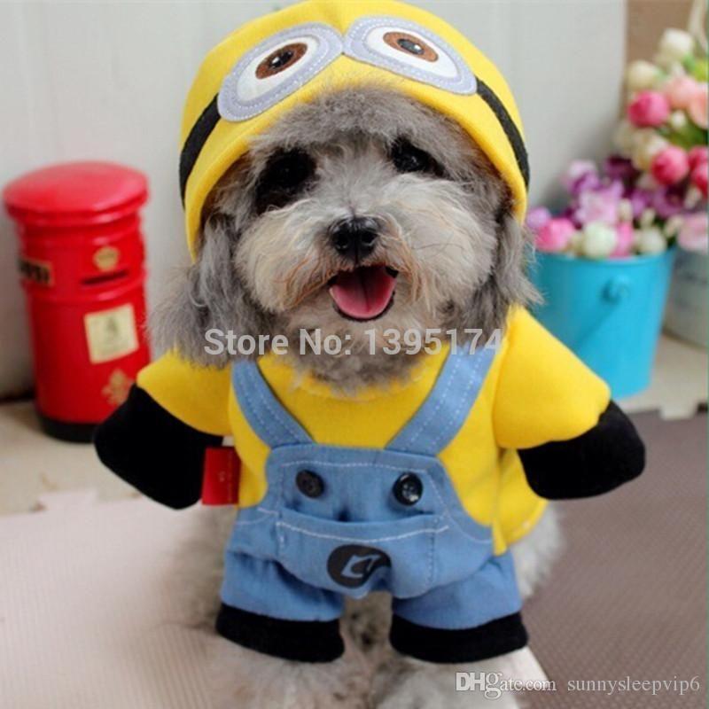 Grosshandel Lustige Minions Hundebekleidung Halloween Pet Kostum