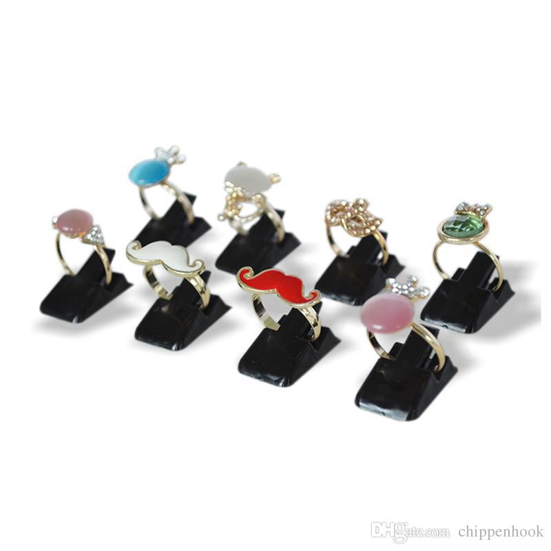 Wholesale Mini Plastic Frosted Jewelry Display Holder Ring Decoration Stand Ring Storage Organizer Holder Clip Rack Available