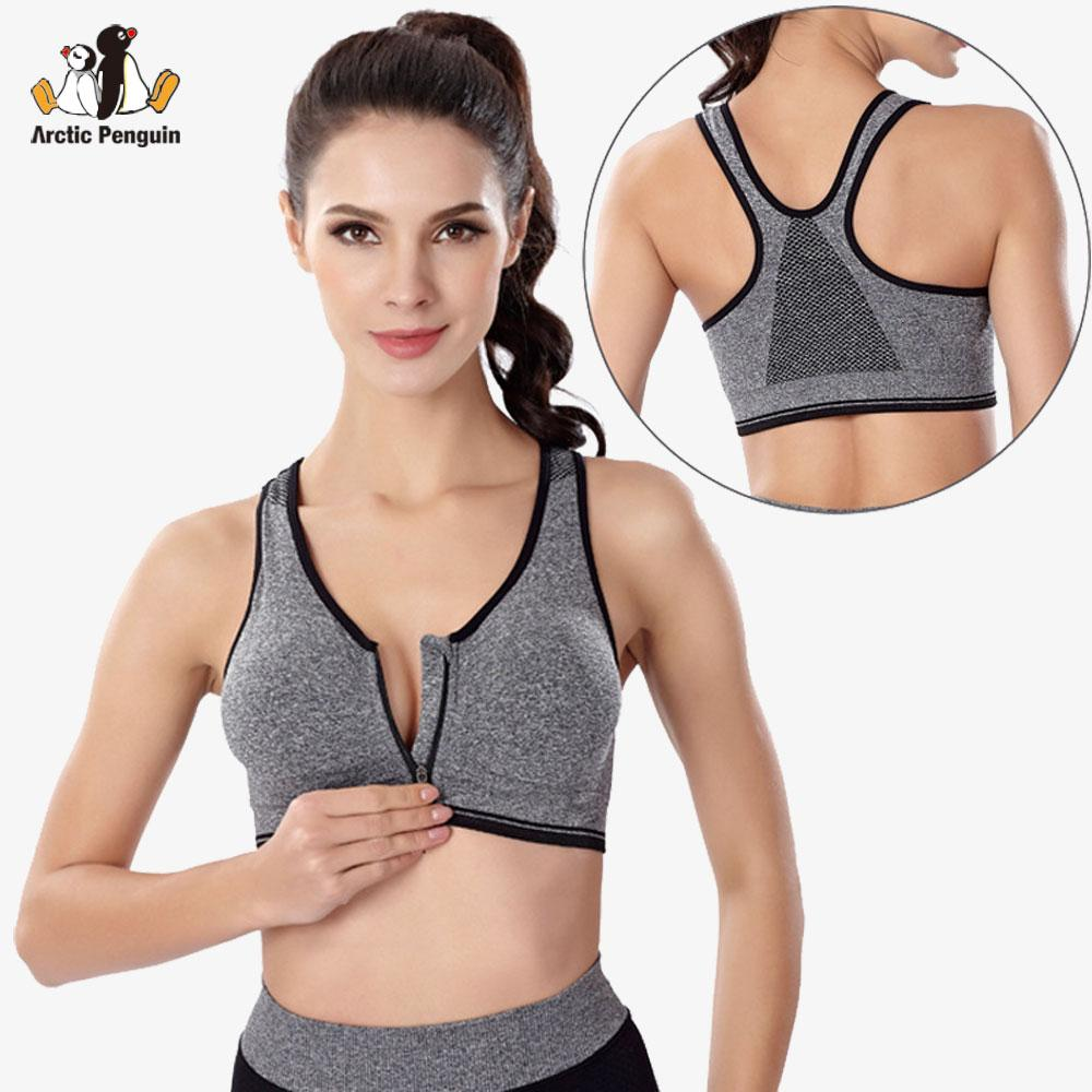 d7b5f711c07 2019 APWomen Running Gym Fitness Bras Zipper Front Sports Bra Fitness Yoga  Tank Tops Female Running Vest Crop Sport Bra Plus Size From Lianqiao