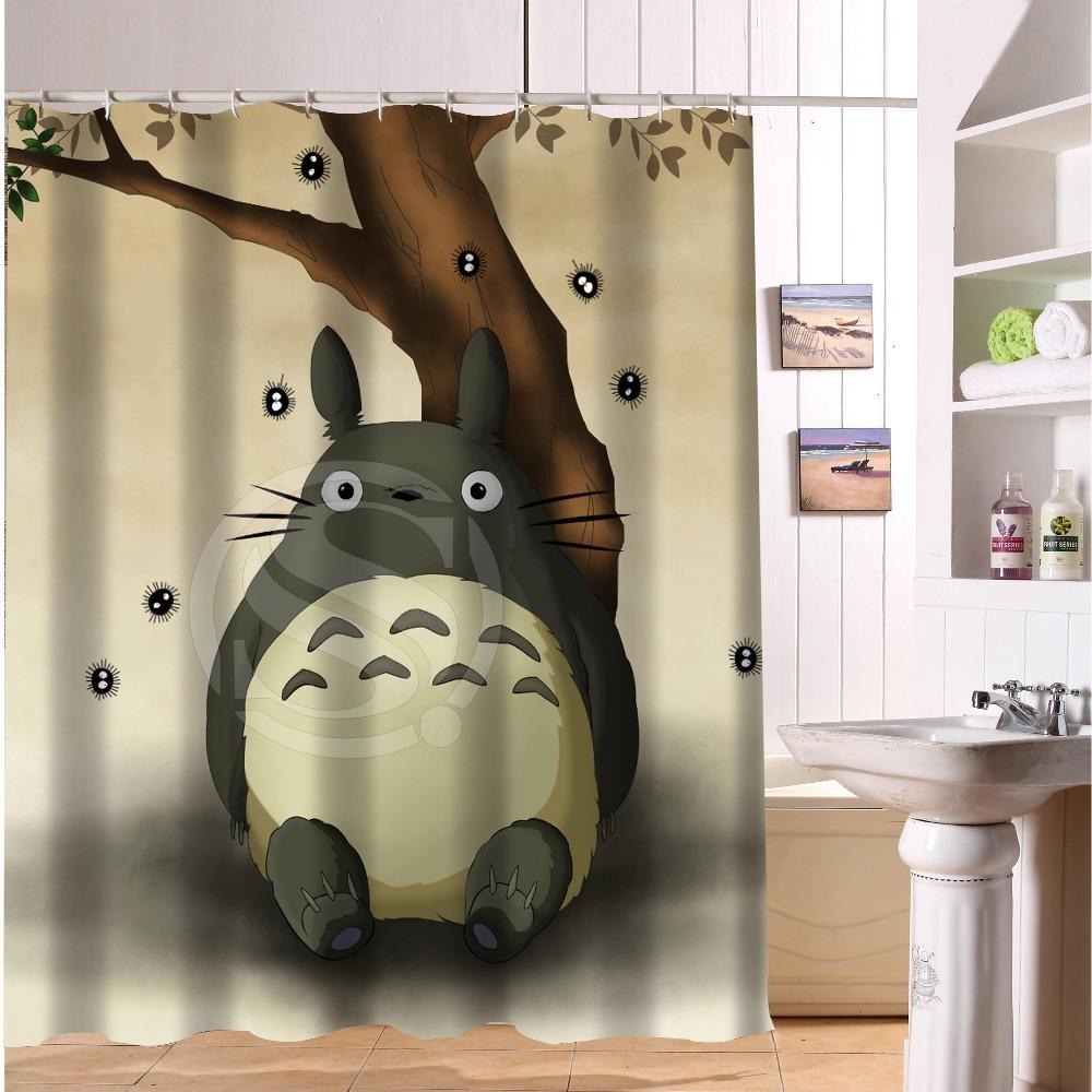 2019 Popular My Neighbor Totoro Shower Curtain Home Decor Waterproof Fabric Bath From Sheiler 3106