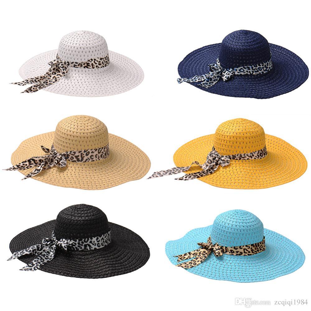 Big Brim Floppy Falten Sonnenhut Sommer Hüte für Frauen Schutz Strohhut Frauen Strand Hut