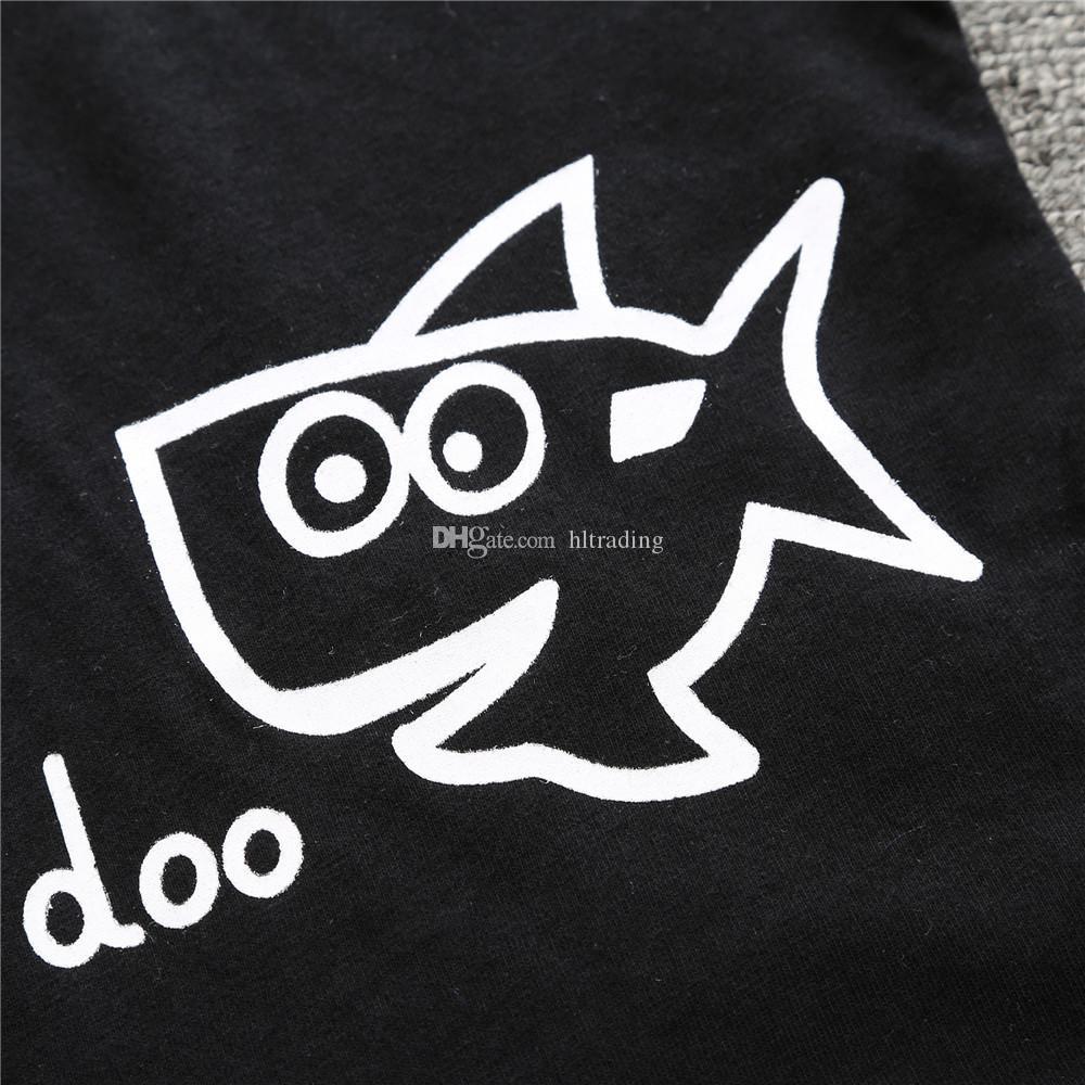 Çocuk Giyim Setleri için Yaz Bebek Giysileri Karikatür Balık Köpekbalığı Baskı Erkek Kıyafetler Toddler Moda T-shirt Şort Çocuk C4321 Suits