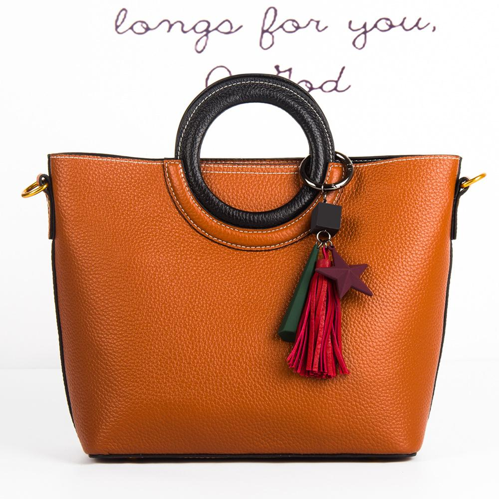 0238a1f13dd8 2018 New Brand Design Women s Bag Handbag Genuine Cow Leather Totes ...