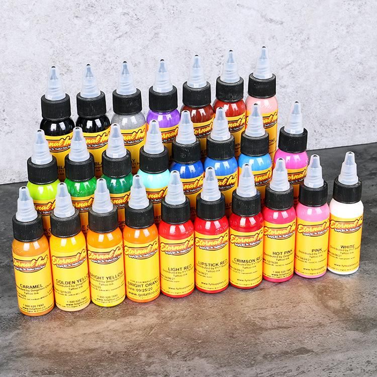 New Tattoo Ink Pigment Permanent Set 1oz / 30ml / Bottle Makeup Tool ...
