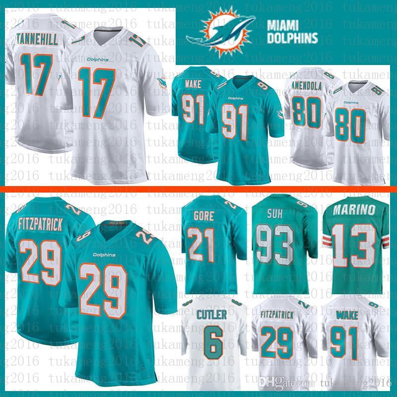 8622e5f64f6 2019 Best Quality 80 Danny Amendola 13 Dan Marino Miami Jersey Dolphins 6  Jay Cutler 29 Minkah Fitzpatrick 93 Ndamukong Suh 21 Gore Wake Tannehil  From ...