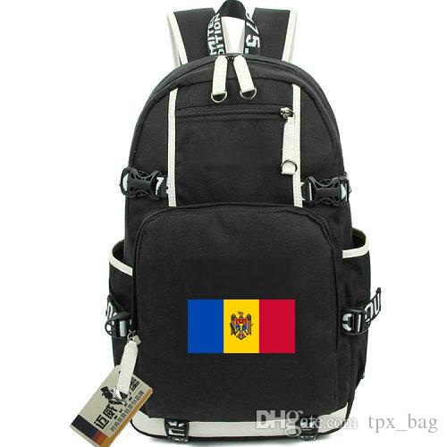Mda De Lona Moldavia Mochila País Bandera Al Aire Del Nacional Escolar Libre Republica 34AjLR5q